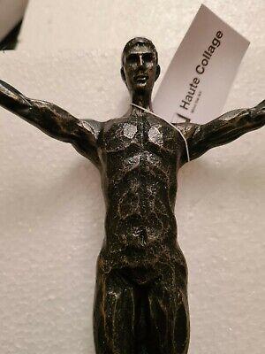 Wall Art Man Figurine Bronze Resin
