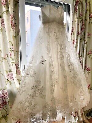 Pronovias pergola wedding dress UK10-12, EU38-40–BNWT
