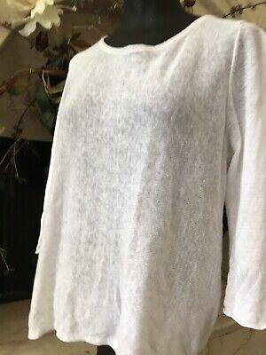 Eileen Fisher  100 %Organic Linen blouse  ( PL  )