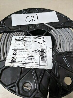 Cerrowire 500 Ft. 14208 Mm2 Gray Solid Thhn Wire.