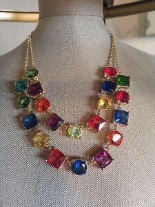 Kate Spade Statement Crystal Kaleidoscope Bib Necklace Great Gift