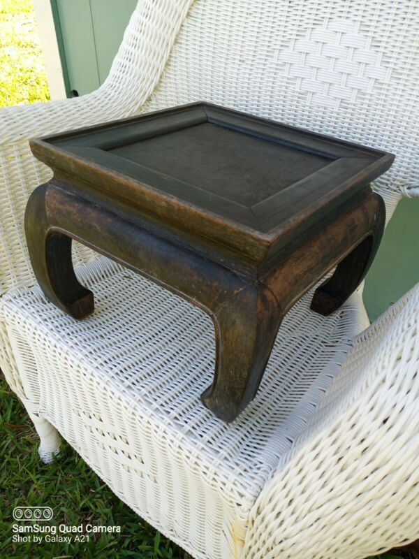 Antique Chinese Ancient furniture Huanghuali Wood Carved tables desk Side table