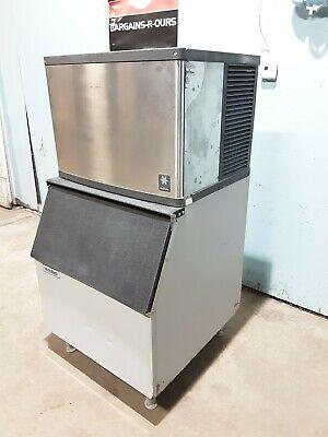 Manitowoc Qy0454a 1ph Air Cooled 400lbs Ice Machine With 400lbs Ice Storage Bin