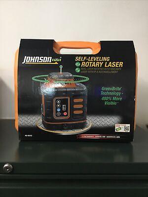 Johnson Self-leveling Rotary Laser Wgreenbrite Technology 40-6543 New Free Ship