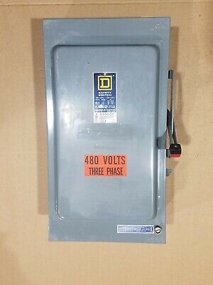 Square D H364awk 200 Amp 600 Volt 3 Pole Fusible Safety Switch - Very Clean