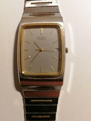Seiko Quartz Men's Wrist Watch with Original Instructions and Sales Receipt