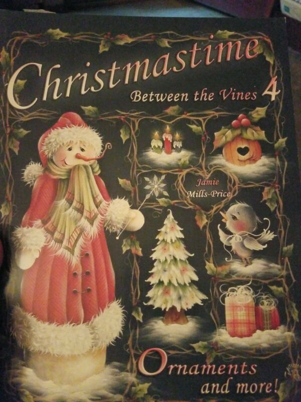 DECORATIVE TOLE PAINTING PATTERN BOOK CHRISTMASTIME BETWEEN THE VINES 4