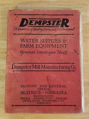 Dempster Gas Engine Sales Bound Catalog Antique Hit Miss Gas Engine Original