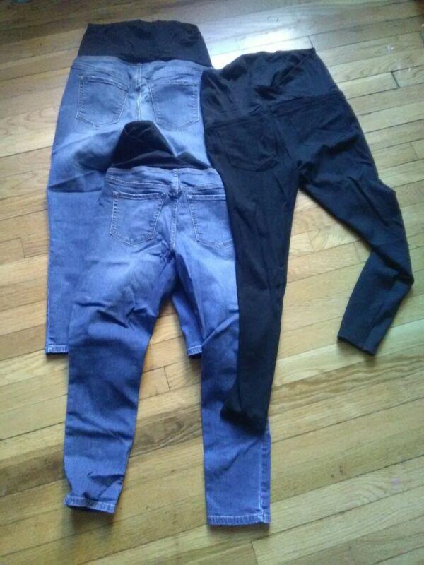 LOT of 3 - Isabel Maternity Skinny Jeans Ingrid & Isabel Size 6 S black leggings