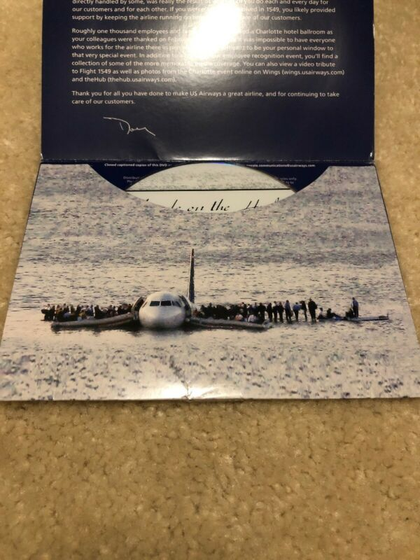 US Airways Flight Cactus 1549 Miracle On The Hudson Employee Only DVD Rare!