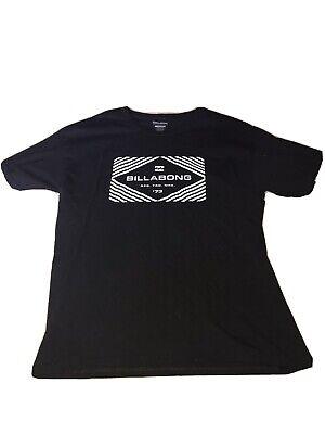 MENS BILLABONG T Shirt SZ Large L BIG LOGO BLACK
