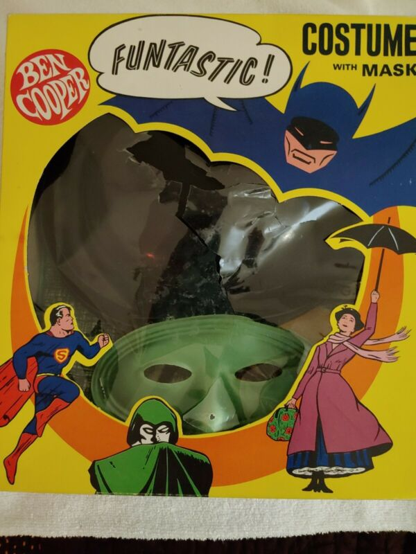 **RARE VINTAGE 1966 THE GREEN HORNET& KATO MASK & COSTUME WITH HAT