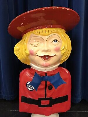 BUSTER BROWN HELIUM BALLOON INFLATOR & 2 Buster Brown Wall Clocks & Penny Bank