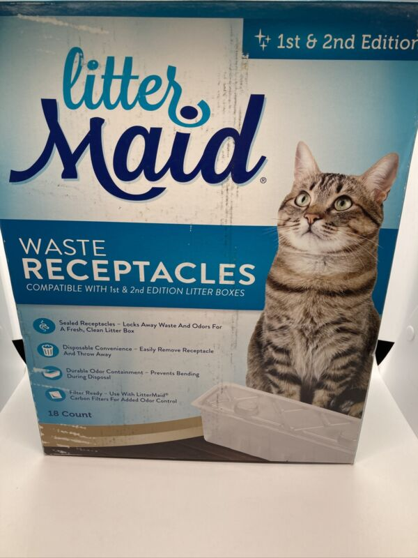 LitterMaid Cat Waste Receptacles 18 Count New Open Box