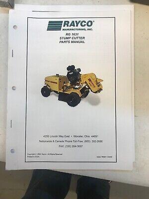Rayco Rg1631 Parts Manual