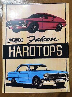Tin Sign Vintage Ford Falcon Hardtops