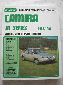 HOLDEN CAMIRA JD 1984 - 1987 GREGORY'S #230 SERVICE REPAIR MANUAL Wollongong Region Preview