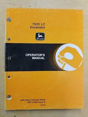 John Deere 792d Lc Excavator Spanish Operators Manual Excavadora