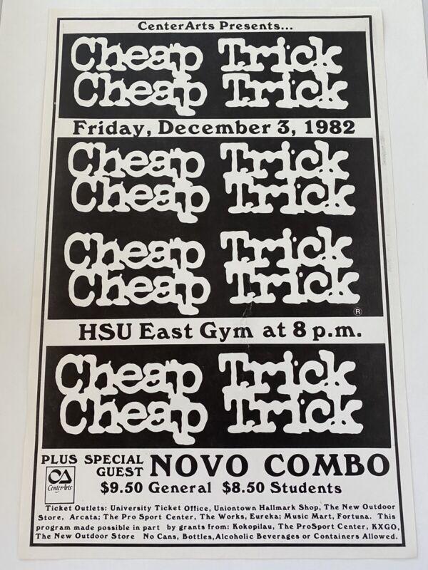 Cheap Trick At Humboldt State University! December 1982 Concert Poster Original
