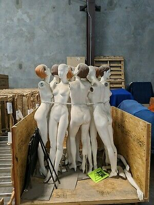 White Ladies Female Full Size Mannequin Most Painted Heads No Shipping Dirty