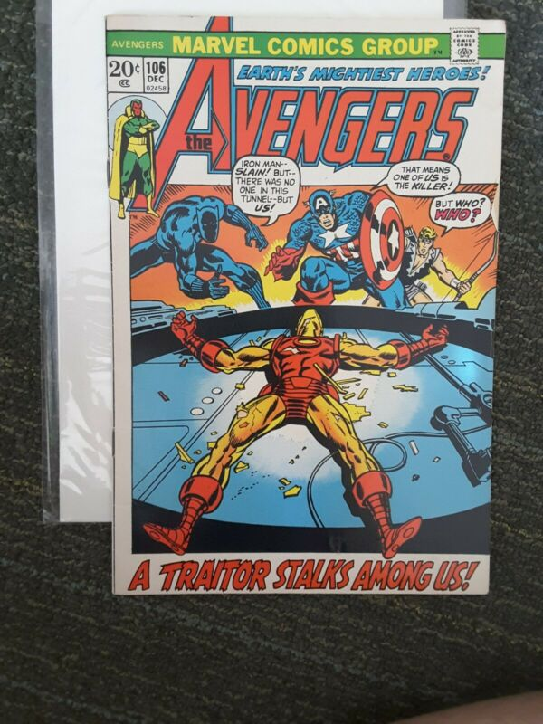 THE AVENGERS #106 Marvel Bronze VF or better