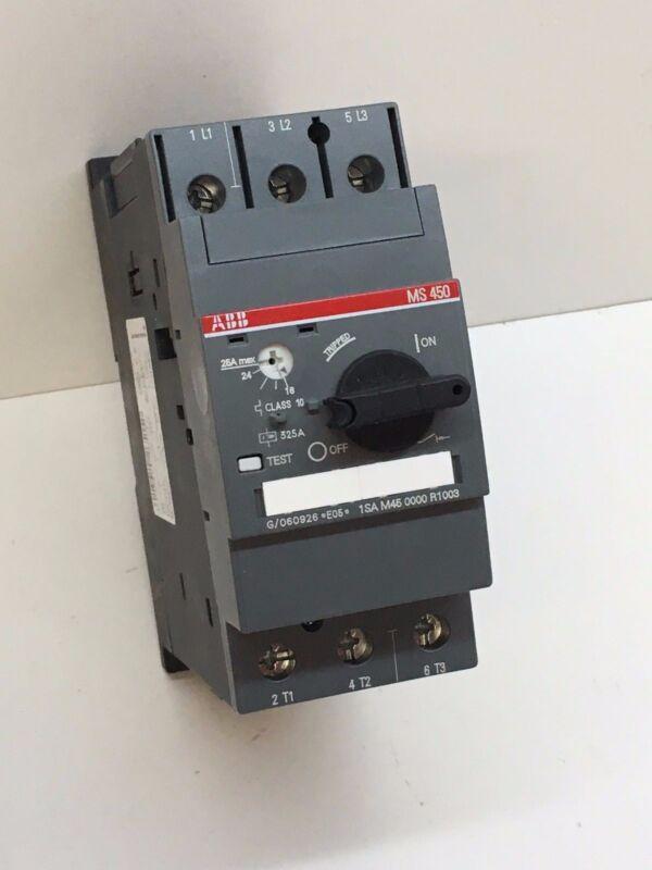 ABB 1SA M45 0000 R1003 Manual Motor Starter MS450 Trip Range 10-25A