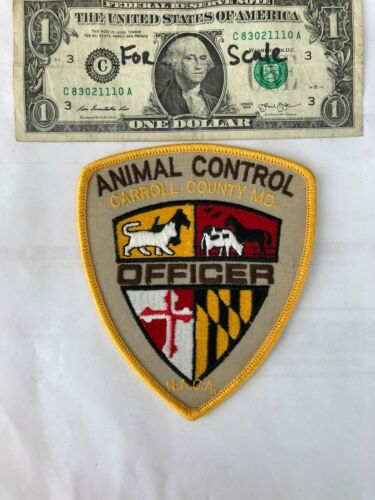 Carroll County Maryland Animal Control Police Patch Un-sewn in great shape