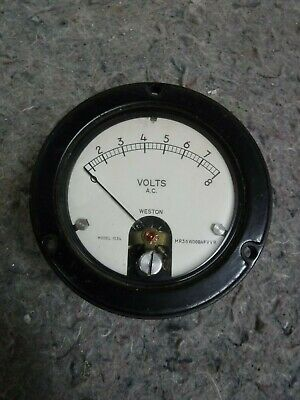 Vintage Western A.c. Volt Meter- 0-8 Volts-model 1534