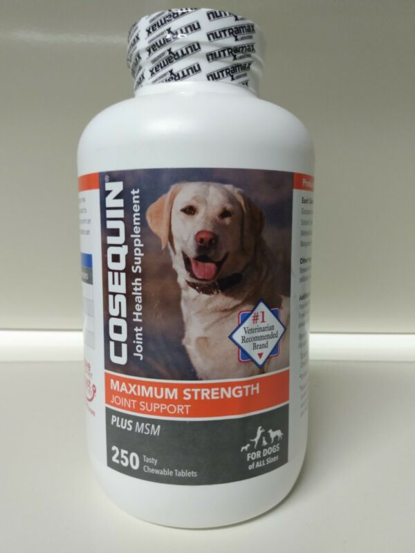 Nutramax Cosequin Plus MSM & HA Chewables Joint Health Dog 250 Tab exp 0523