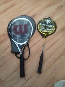 Good Tennis racquet and. Badminton racquet for 30$