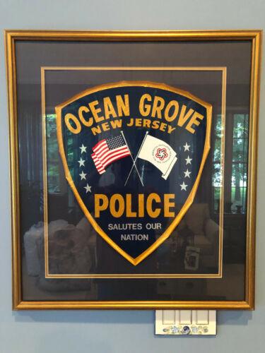 Rare Obsolete 1976 Ocean Grove, NJ Police Department Patrol Car Door Shield