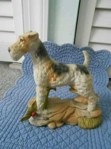 Lovely Wire Fox Terrier Christmas Decoration Figurine