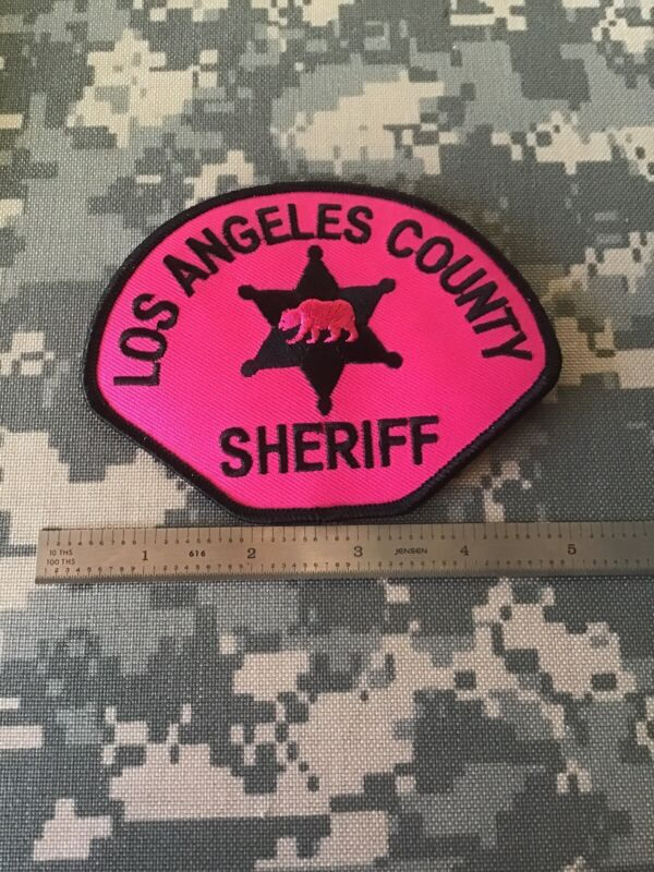 LOS ANGELES COUNTY SHERIFF 2018 PINK BREAST CANCER AWARENESS PATCH NEW 1-1