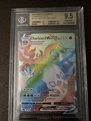 Pokemon Charizard Vmax Rainbow Rare 074/073 BGS 9.5 FRESHLY GRADED