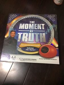 The Moment of Truth board game- new in package