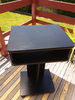 Black TV stand on wheels - television Mooroolbark Yarra Ranges Preview