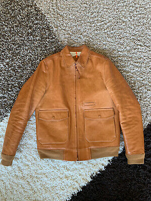 OAMC Over All Master Cloth Factory Raw Leather Jacket M/L