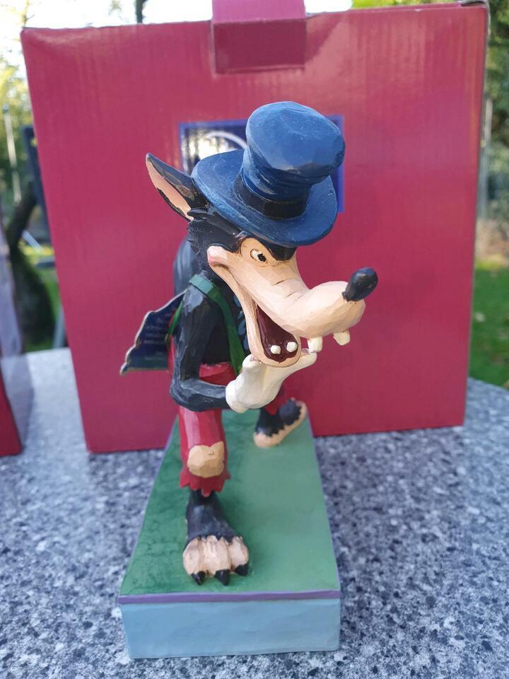 Verkaufe Disney Figur böser Wolf und 3 Schweinchen in Nordrhein-Westfalen - Langenfeld