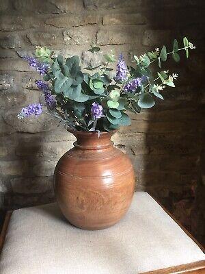 Large Vintage Wooden Vase