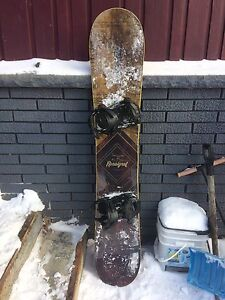 Rossignol snowboard and bindings