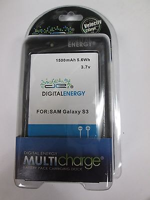 Samsung Galaxy S3 Battery and Charger 1500mAh 5.6Wh 3.7v (Digital Drive) NEW