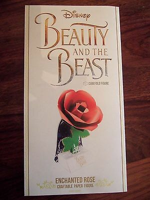 Disney Beauty & The Beast Enchanted Rose Craftable Paper Figure New 2017