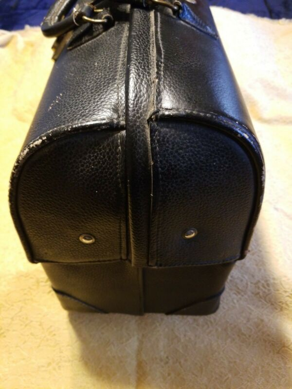 Vintage PCI Professional Case Inc.Black Leather Medical Doctors Bag,VGC!