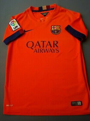 bf450cfbb79 4.1/5 Barcelona kids jersey 10-12 y. 2014 2015 away shirt soccer Nike ig93