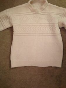 Cream wool sweater knit by my grandmother