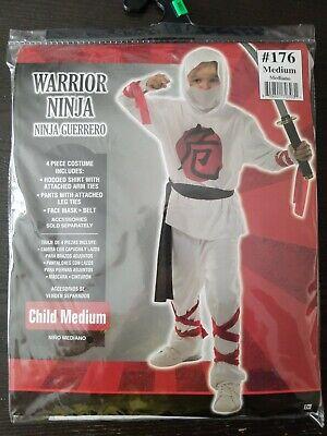 NINJA WARRIOR COSTUME - CHILD'S MEDIUM BRAND NEW  - Childrens Ninja Costume