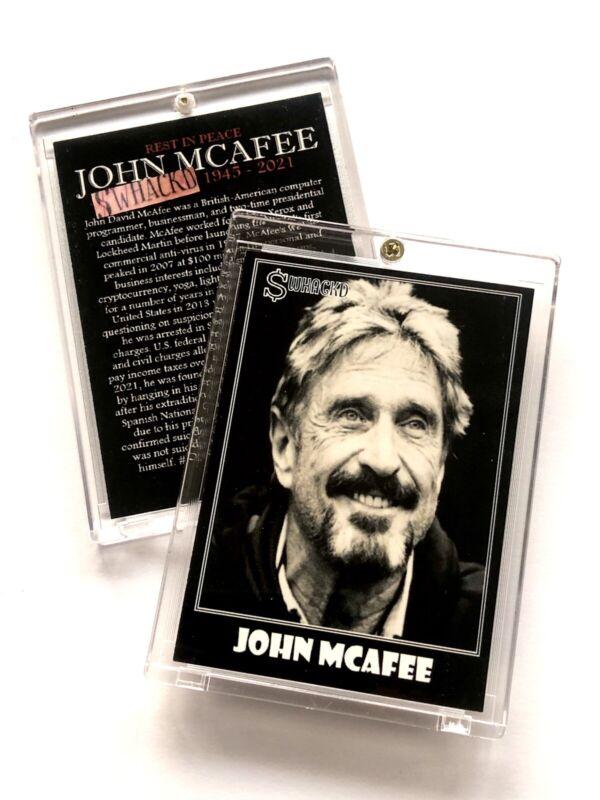 "John Mcafee ""$whackd"" Trading Card In Case"