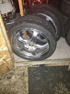 225/40r18 aftermarket chrome rims with low profile tires