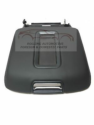 2014-2017 Silverado Sierra Black Leather Center Console Armrest Lid New OEM (Black Leather Armrest)