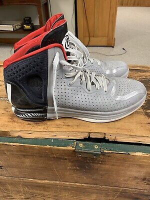 RARE Adidas D Rose 4 Chicago size 13 Gray Black Red